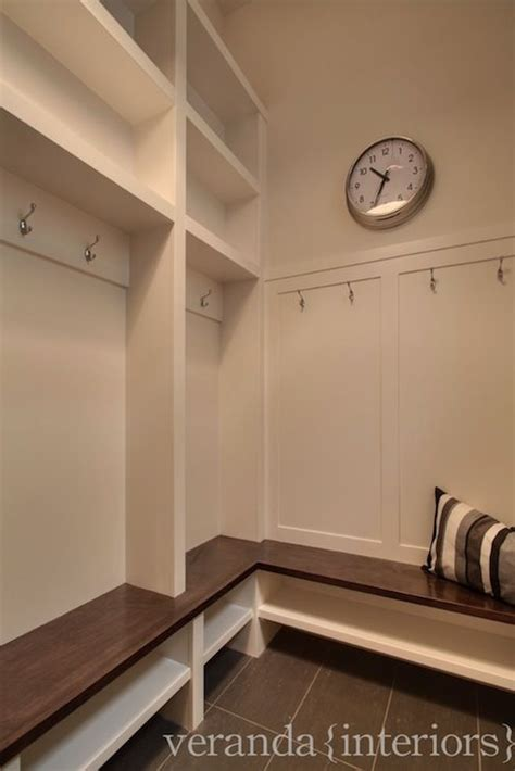 veranda interiors mud room built in storage bench hooks for coats use
