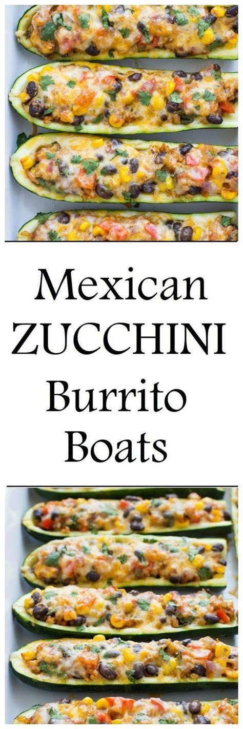 Taco Burrito Boats by Mexican Zucchini Burrito Boats Yummedrecipes