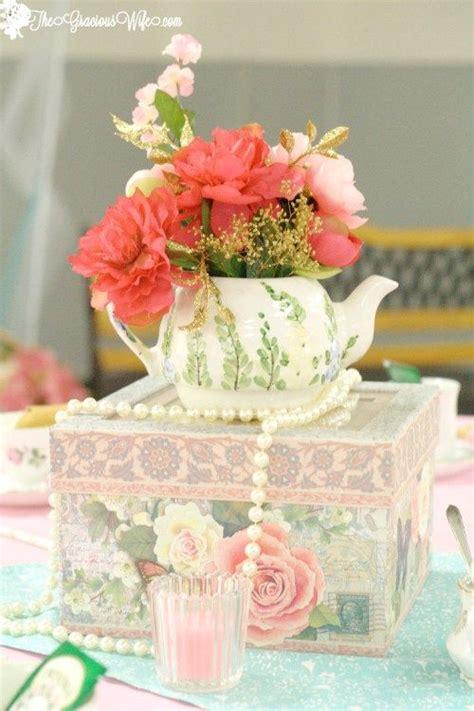 tea bridal shower decorations best 25 tea centerpieces ideas on
