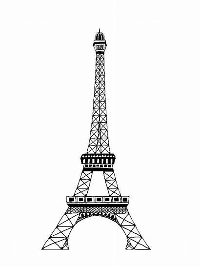 Eiffel Coloring Tower Pages Famous Drawing String