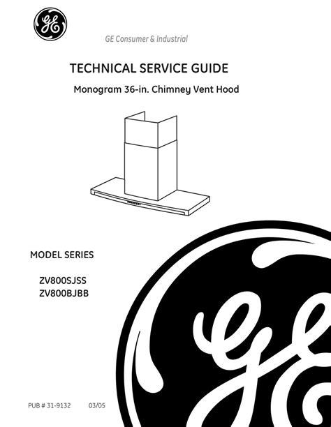 ge zvsjss technical service manual   manualslib