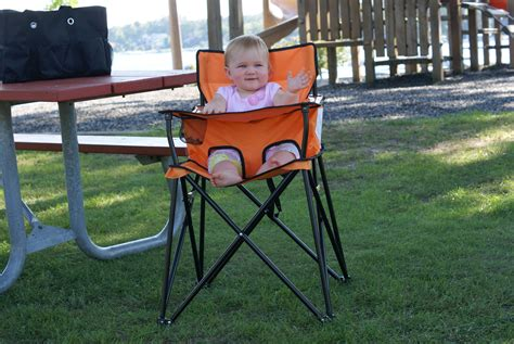 Ciao! Baby Orange Portable Highchair Perfect For Travel