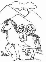 Coloring Pages Dog Dogs Horse Malowanki Colouring Puppies Printable Animals Puppy Drawing Animal Kolorowanki Pies Printing Printables Faithful Getcoloringpages Druku sketch template
