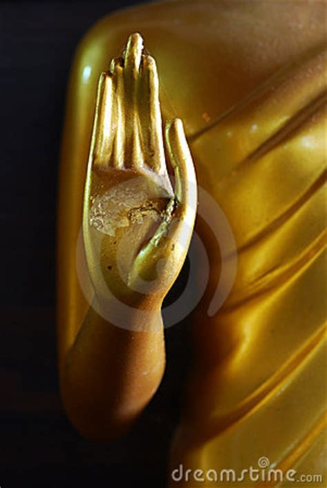 lord  buddha hand statue royalty  stock photography