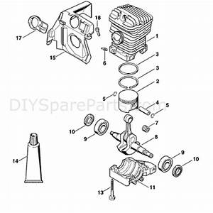 Stihl Ms 390 Chainsaw  Ms390  Parts Diagram  Cylinder Ms 390