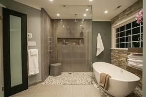 5 conseils pour une petite salle de bain tendance With salle de bain design avec galets décoratifs de table