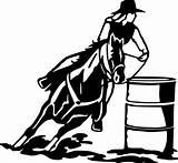 Barrel Racing Horse Clip Racer Clipart Coloring Silhouette Male Transparent Racers Library Cowboy Svg Animals Pix Artwork sketch template
