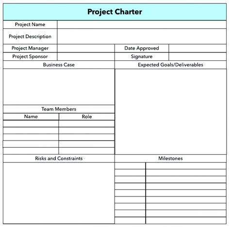 Project Charter Pmp Template by Project Charter Template Pdf Ppt Free