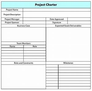 project charter template pdf ppt free With project charter pmp template