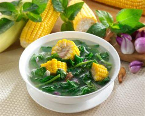 bahan bening utk bikin cara membuat resep sayur bayam bening resepumi