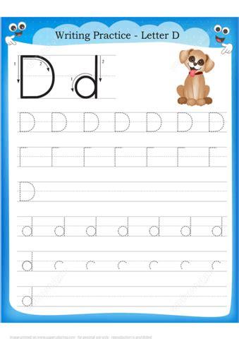 letter    dog handwriting practice worksheet  printable puzzle games