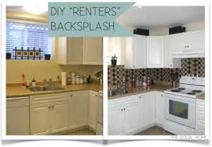vinyl kitchen backsplash diy quot renters quot backsplash with vinyl tile