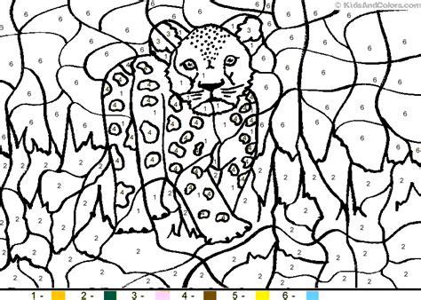 letter  leopard animal color  number