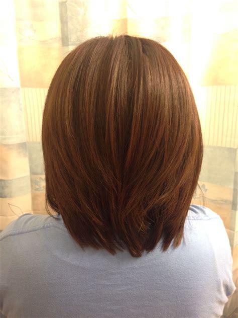 medium hair  layers    cut  color