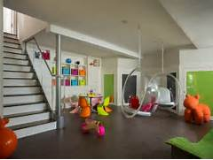 Finished Basement Ideas For Kids by Basement Playroom Remodel Idea On Basement Photo Friday Hanging Chairs And