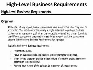 high level business requirements document template 28 With high level requirements template