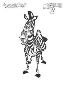 Marty Zebra Madagascar Coloring Pages