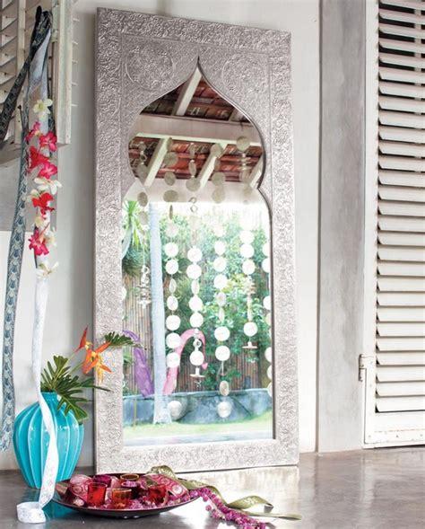 miroir maisons du monde style indien photo  fabrication en bois recouvert daluminium