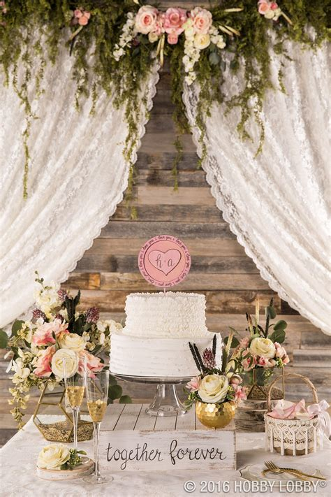 dress up your cake table with gold and floral accents for
