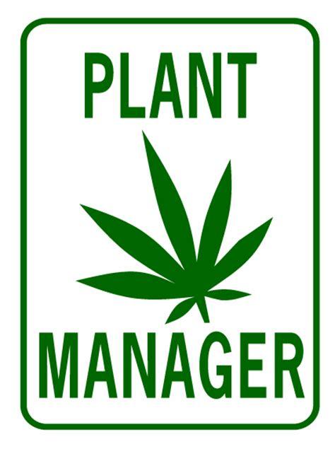 pot plant manager signxing