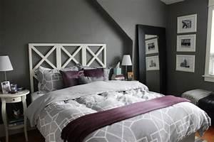 la chambre grise 40 idees pour la deco archzinefr With chambre lilas et gris