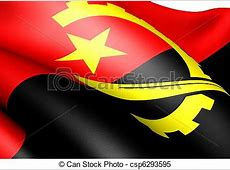 Stock Illustrations of Flag of Angola Close up