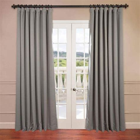 grey 108 x 100 inch double wide blackout curtain single