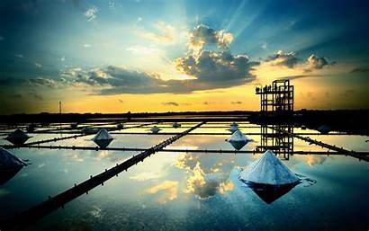Oil Rig Wallpapers Salt Platform Factory Water