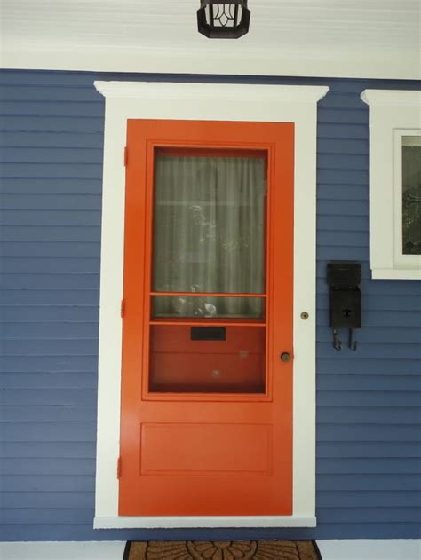 orange door doors front exterior colors paint colored things entry estate trim door2 pumpkin screen dark houses portas entrance pintadas