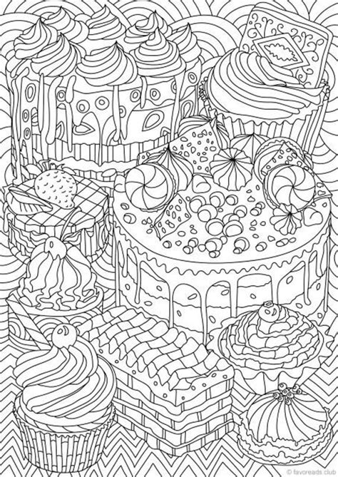 sweet treats printable adult coloring page  favoreads
