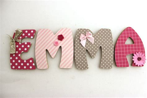 lettre porte chambre bébé decoration chambre bebe lettre visuel 1