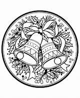 Coloring Pages Wreath Christmas Bells Wreaths Printable Sheets Holiday Reef Bell Adult Colouring Adults Advent Activity Filminspector Ornament Holly Decorations sketch template