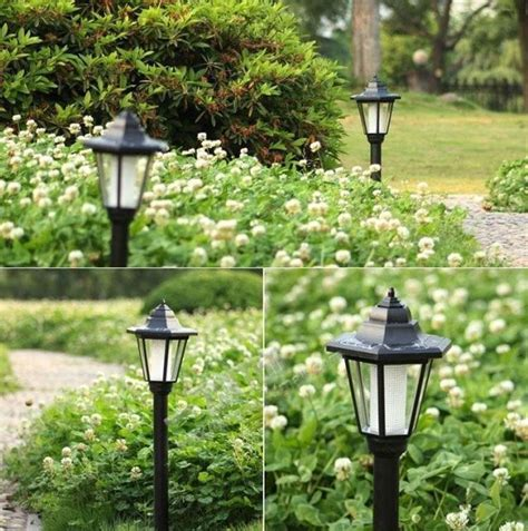 outdoor solar power light led path wall landscape mount