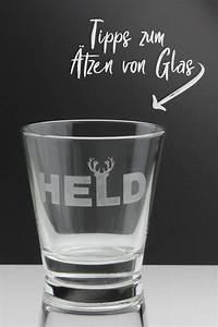 Kalkflecken Auf Glas : geschenkidee individuelle motive auf glas mit tzpaste und schablonenfolie ~ Watch28wear.com Haus und Dekorationen