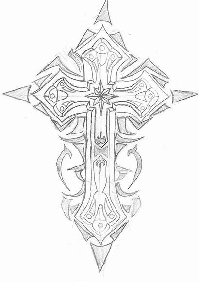 Cross Tribal Tattoos Drawings Tattoo Coloring Pages