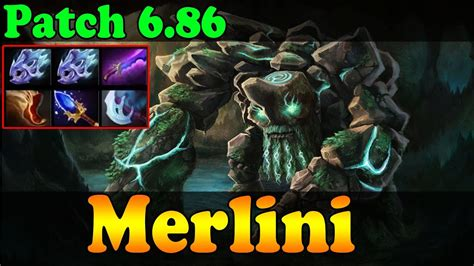 dota 2 patch 6 86 merlini plays tiny vol 1 ranked match gameplay youtube