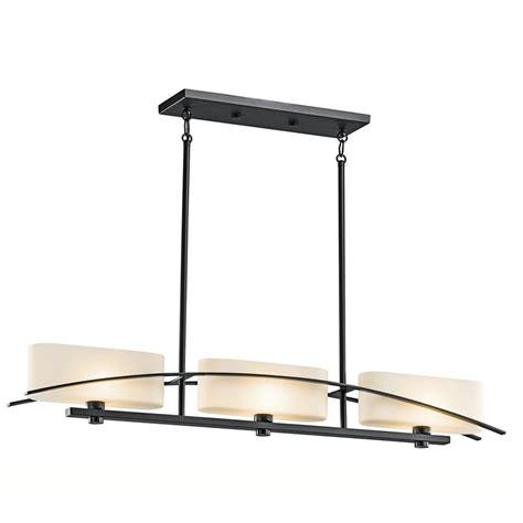 kitchen island lighting shop kichler lighting suspension 41 in w 3 light black