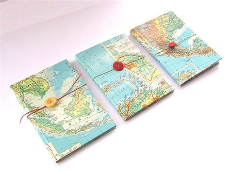 map notebook covers with button diy notebook covers notebooks and buttons