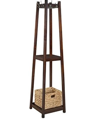 standing l with shelves great deal on h2o coat rack tower free standing with 2