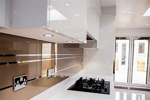 quotmirror stripes on antelope colourquot glass kitchen With interior design kitchen splashbacks