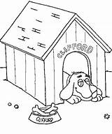 Dog Coloring Clifford Doghouse Lazing Colouring Template Drawing Coloringsun Printable Templates Getdrawings Button Using sketch template