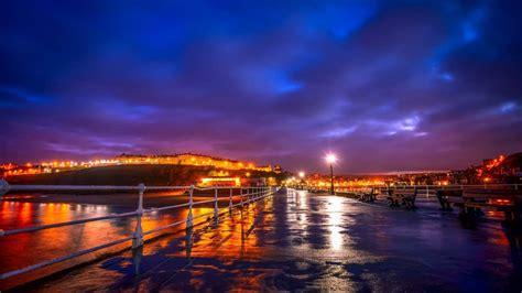 picture sunset bridge city reflection dusk