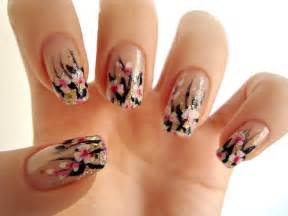 White pink flowers nail art by dancingginger on deviantart