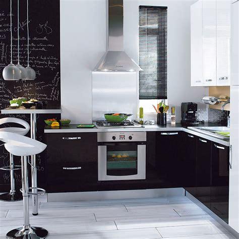 meuble de cuisine noir et blanc meuble de cuisine noir et blanc dco salon meuble noir et