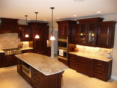 what is the best flooring for kitchens cherry kitchen remodel before after traditional 9857