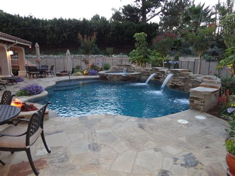 entertainment pool  spa patio gemini  landscape