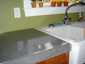 Polished Stained Concrete Countertops : Find Out Stained