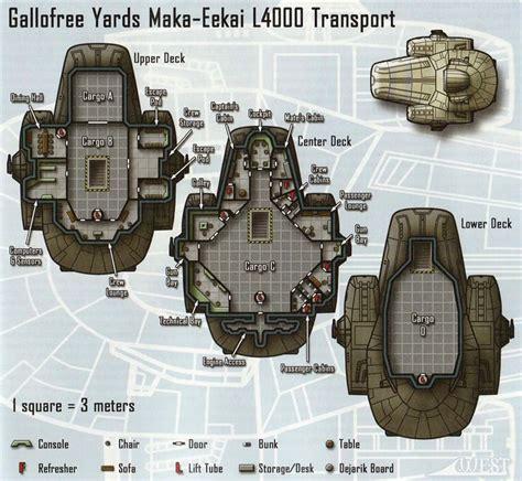 starship deck plan generator maka eekai l4000 transport cutaway search and clone wars