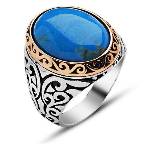 oval feroza silver ring boutique ottoman jewelry store