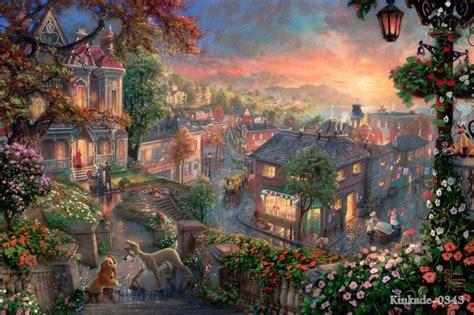 thomas kinkade prints original animation oil painting
